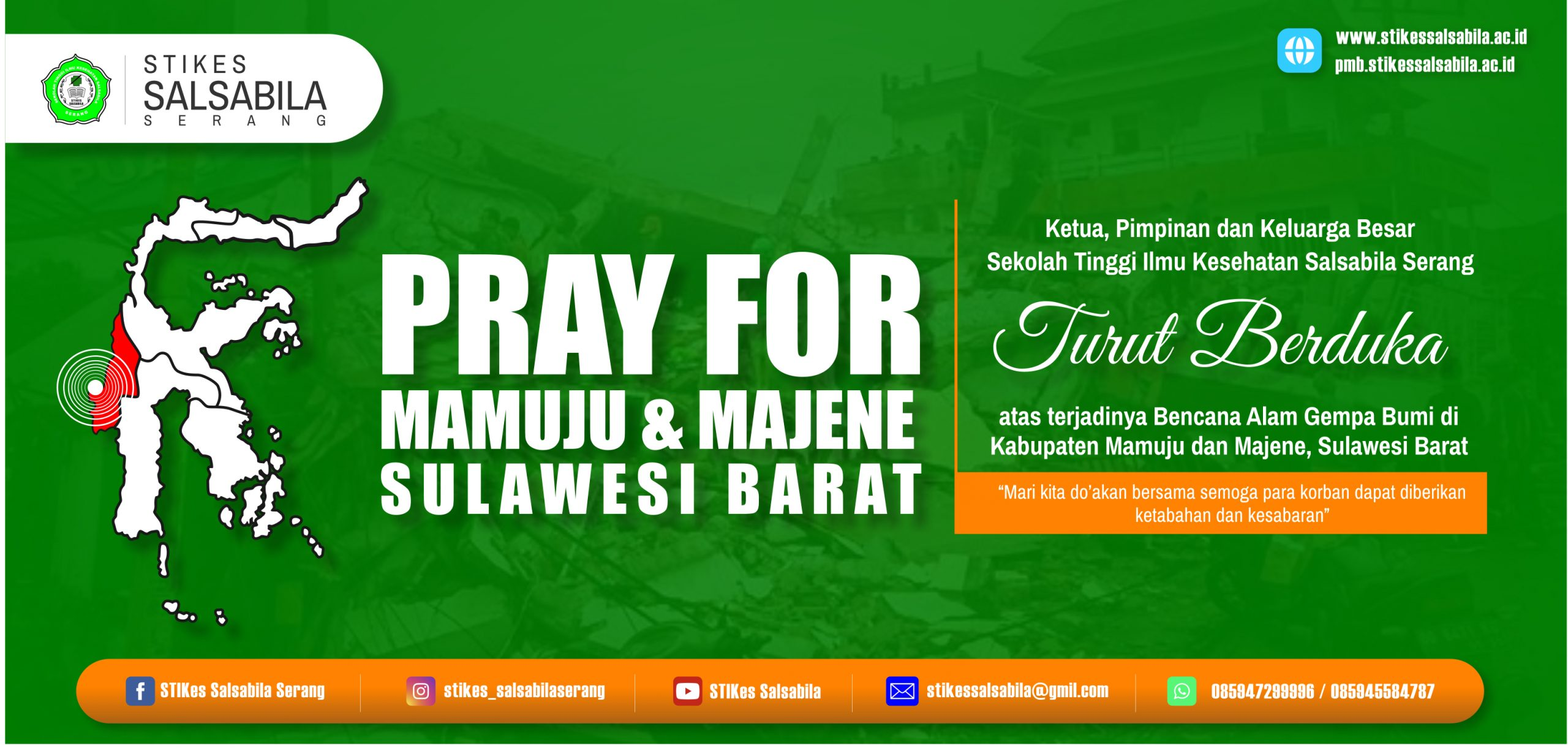 Turut Berduka Cita Bencana Alam Gempa Bumi Sulawesi Barat